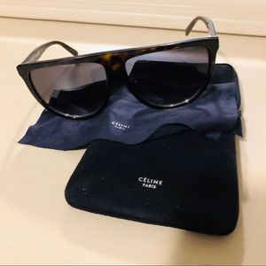 Celine Thin Shadow Sunglasses 41435/s tortoise